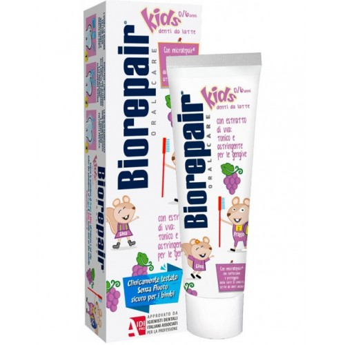 Детская зубная паста BioRepair Веселый мышонок Виноград 50 мл