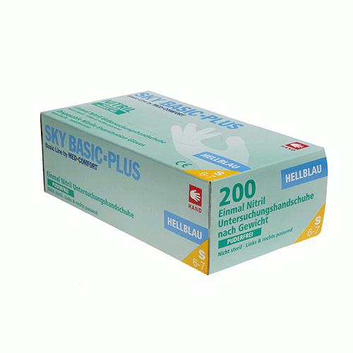 Перчатки нитриловые смотровые нестерильные текстурированные AMPri 200 шт размер S