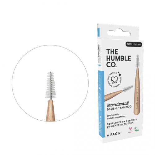 Межзубные ершики бамбуковые Humble 0.6 мм голубые 6 шт