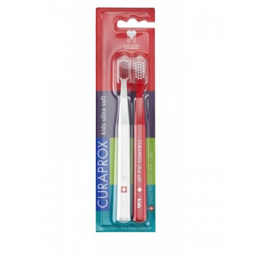 Набор зубных щеток Curaprox Smart CS 7600 SWISS SCHOOL EDITION 2 шт