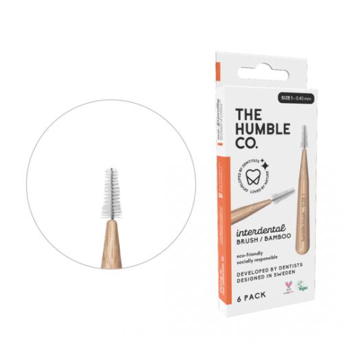Межзубные ершики бамбуковые Humble 0.45 мм оранжевые 6 шт