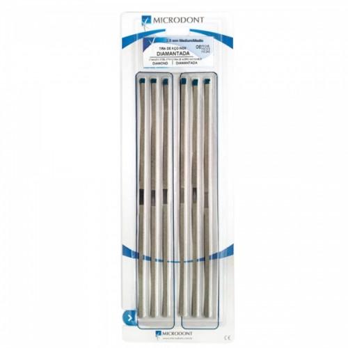 Штрипсы металлические гладкий центр 2.5 мм синие 6 шт