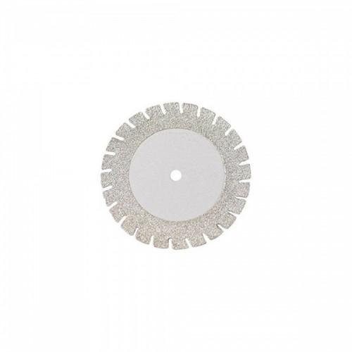 Диск алмазный 22/16 мм двусторонний с пилкой абразивность мелкая 1 шт