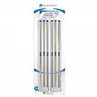 Штрипсы металлические гладкий центр 4.0 мм синие 6 шт