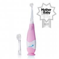 Звуковая зубная щетка Brush-Baby BabySonic от 0 до 3 лет розовая
