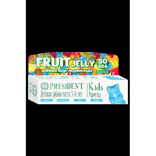 Детская зубная паста President Kids Fruit Jelly Мармелад от 3 до 6 лет 50 мл