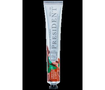 Зубная паста President White&Yummy шоколадный фондан с мятой 75 мл
