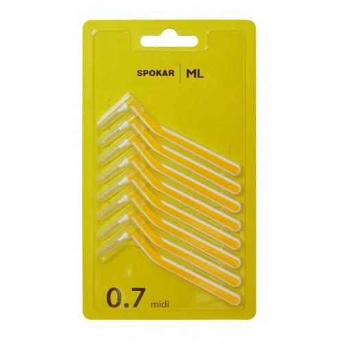 Межзубные ершики Spokar ML угловые 0,7 мм 8 шт