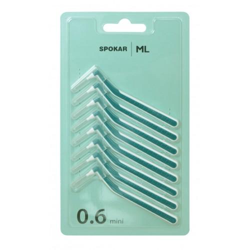 Межзубные ершики Spokar ML угловые 0,6 мм 8 шт