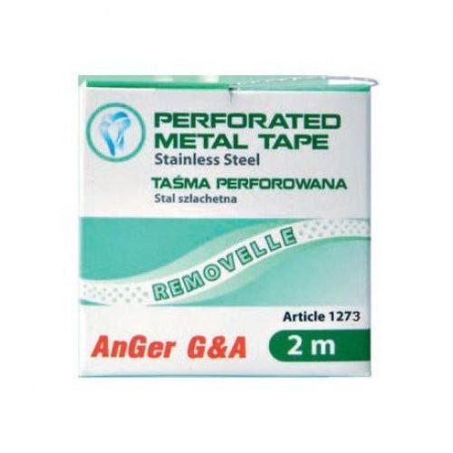 Штрипсы металлические профилактические 5.0 мм перфорированные с гладкими секциями катушка 2 м (fine)