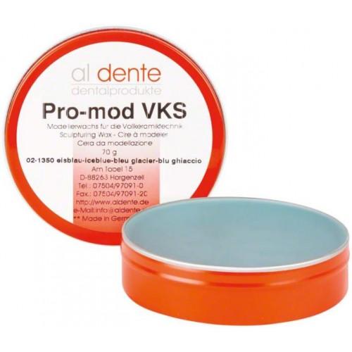 Воск моделировочный для пресс-керамики PRO-MOD VKS голубой 70 г