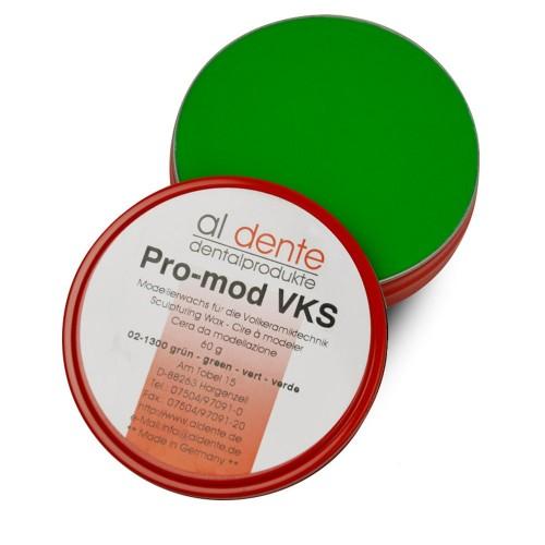 Воск моделировочный для пресс-керамики PRO-MOD VKS зелёный 60 г