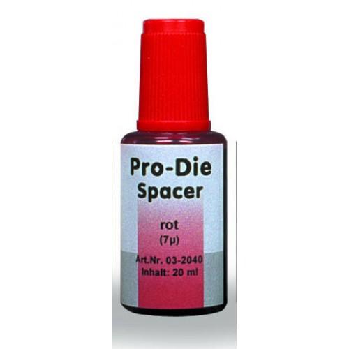 Лак компенсационный PRO-DIE красный прозрачный 7 мкм 20 мл