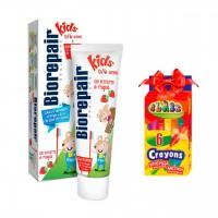 Комплект Biorepair детская зубная паста «Веселый мышонок» 50 мл + подарок Карандашивосковые
