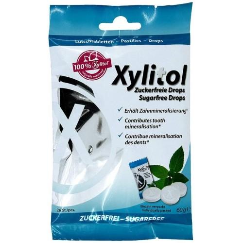 Леденцы с ксилитом Miradent Xylitol Drops Мята 60 г 26 шт
