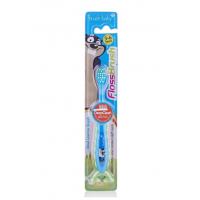 Детская зубная щетка Brush Baby FlossBrush от 3 до 6 лет синяя