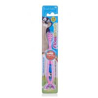 Детская зубная щетка Brush Baby FlossBrush от 3 до 6 лет розовая