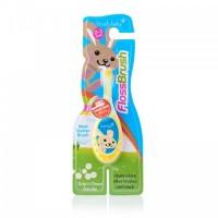 Детская зубная щетка Brush Baby Flossbrush до 3 лет жёлтая