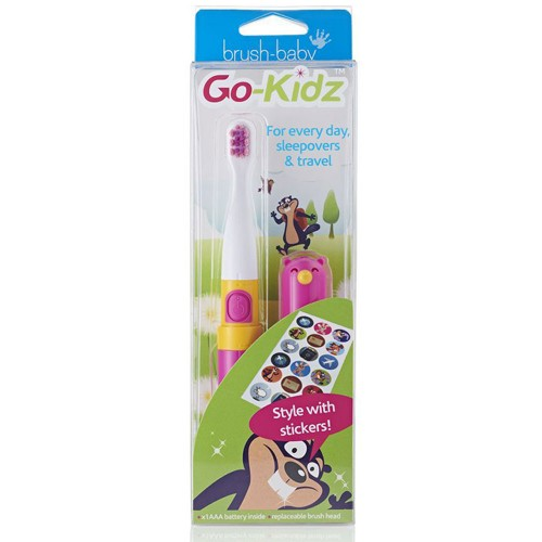 Электрическая зубная щетка Brush-Baby Go Kidz Boxed Pink