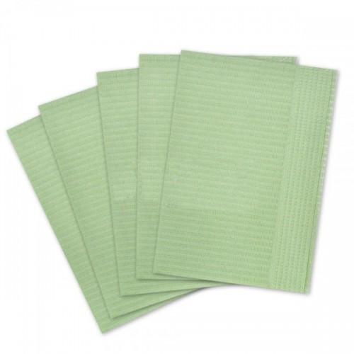 Салфетки для пациентов 2-слойные (не отбеленные, зелёные 33х45 см) 500 шт