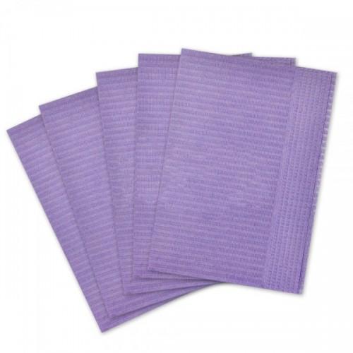 Салфетки для пациентов 2-слойные (сиреневые 33х45 см) 500 шт