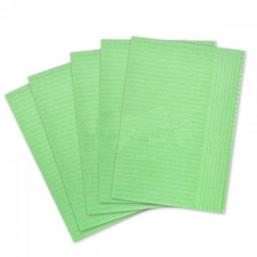 Салфетки для пациентов 2-слойные (зелёные 33х45 см) 500 шт