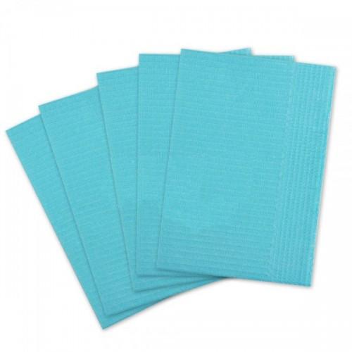 Салфетки для пациентов 2-слойные (голубые 33х45 см) 500 шт