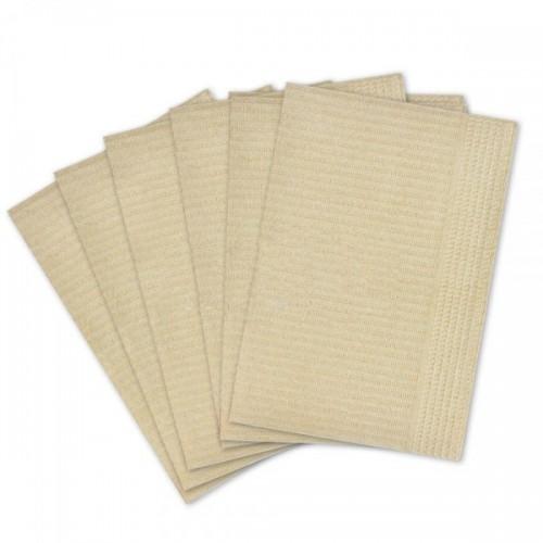 Салфетки для пациентов 2-слойные (не отбеленные, бежевые 33х45 см) 500 шт