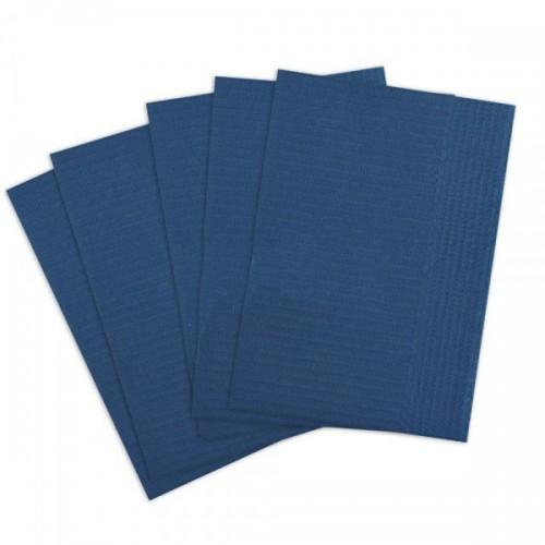 Салфетки для пациентов 2-слойные (не отбеленные, синие 33х45 см) 500 шт