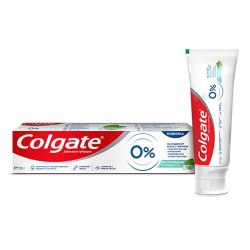 Зубная паста Colgate 0% Мягкое очищение 130 мл