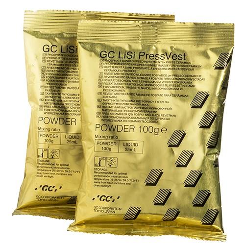 LiSi PressVest Powder порошок для скорой фосфатной формовочной массы для пресс-керамики 100 г (60 шт.)