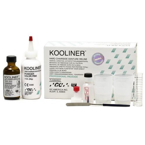 KOOLINER пластмасса для перебазирования протезов порошок 80 г + жидкость 55 мл