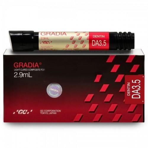 GRADIA Dentin микрокерамический гибридный композит светового отверждения цвет DA3.5 2.9 мл