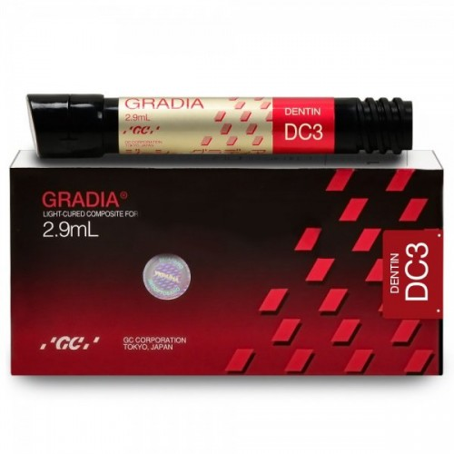 GRADIA Dentin микрокерамический гибридный композит светового отверждения цвет DC3 2.9 мл