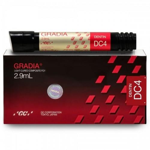 GRADIA Dentin микрокерамический гибридный композит светового отверждения цвет DC4 2.9 мл