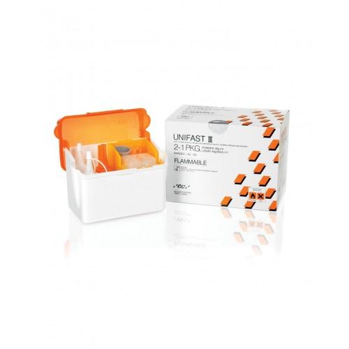 UNIFAST III Intro Pack акриловая пластмасса  для изготовления временных конструкций A2-A3 стартовый набор 2-1 (2 порошка по 35 г + жидкость 42 мл)