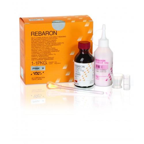 REBARON пластмасса для перебазирования протезов порошок 100 г + жидкость 104 мл