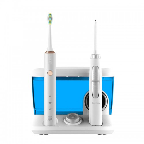 Зубной центр Lachen Dental Center RM-W7 6 насадок + зубная щетка Lebond MY 3 насадки