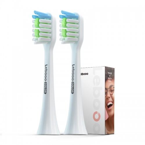 Насадки для электрической зубной щетки Lebooo Color White 2 шт