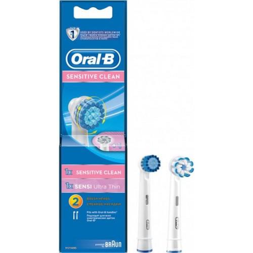 Сменные насадки для электрической зубной щетки Oral-B SensClean 1 шт + Ultra Thin 1 шт