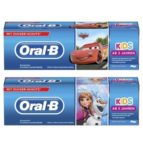Детская зубная паста Oral-B Kids от 3 лет 2x75 мл