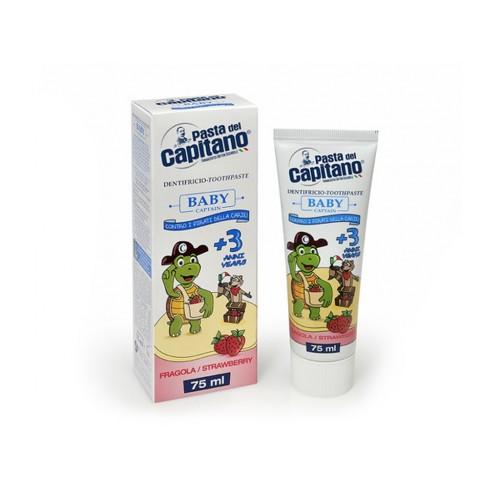 Детская зубная паста Pasta del Capitano Baby Strawberry от 3 до 6 лет 75 мл
