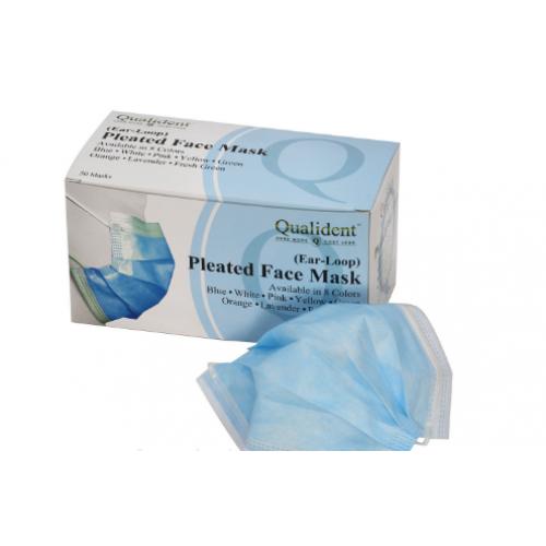 Маски защитные медицинские Qualident голубые 50 шт