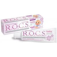 Деткая зубная паста Rocs baby с ароматом липы от 0 до 3 лет 35 мл