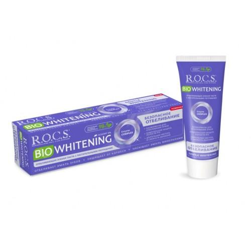 Зубная паста Rocs Bio Whitening Безопасное отбеливание 94 мл