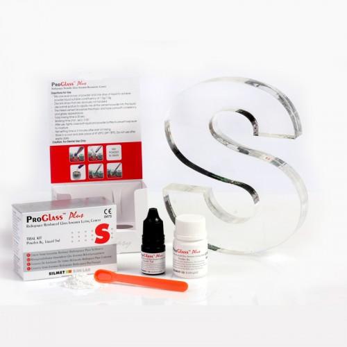 PROGLASS PLUS стеклоиономерный цемент набор порошок 8 г + жидкость 5 мл