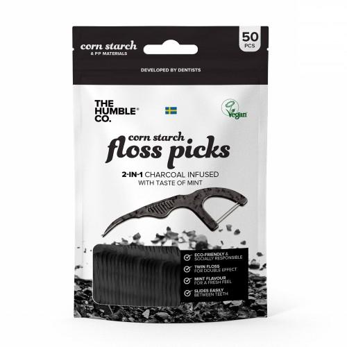 Флосс-зубочистки Humble Чёрные 50 шт