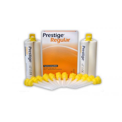 PRESTIGE Regular корректирующая масса жёлтая 2 картриджа по 50 мл + 12 насадок