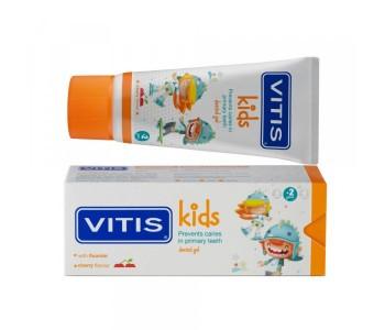 Детская зубная гель-паста Vitis Kids от 2 до 6 лет 50 мл