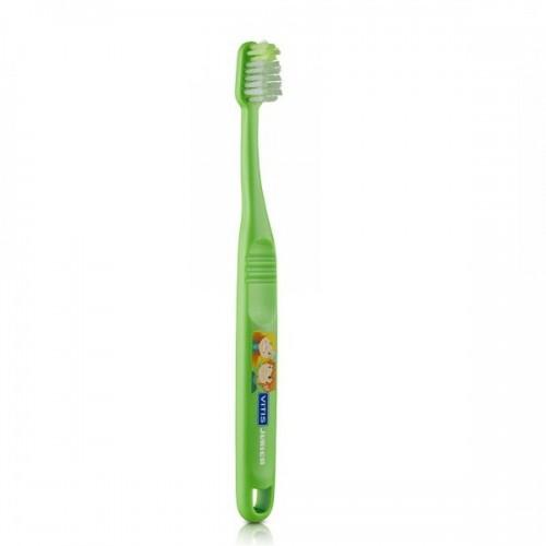 Детская зубная щетка VITIS JUNIOR от 6 лет зелёная